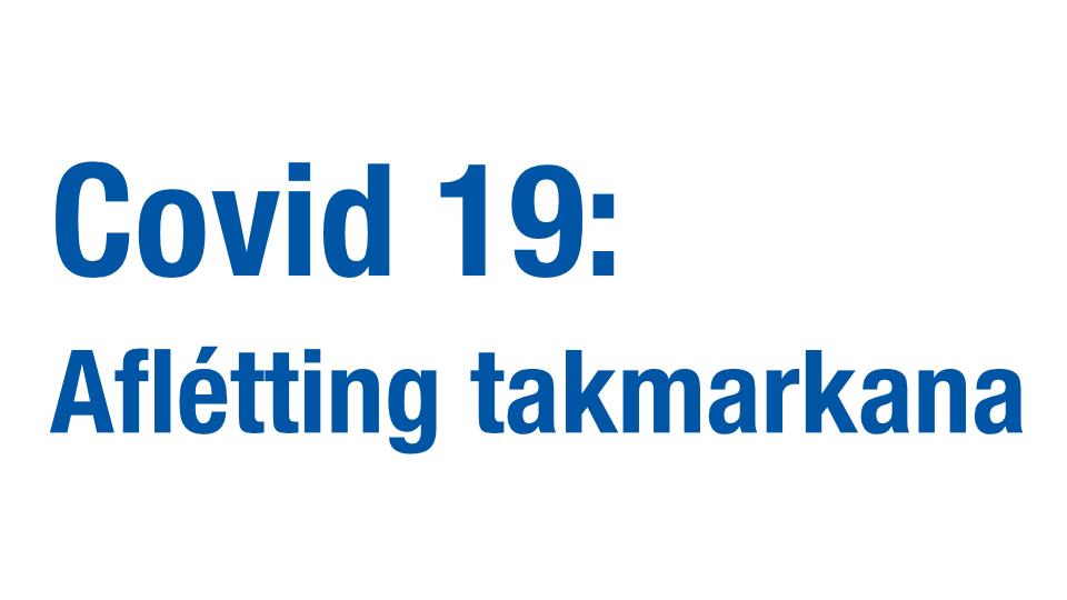 Covid-19: Aflétting allra takmarkana